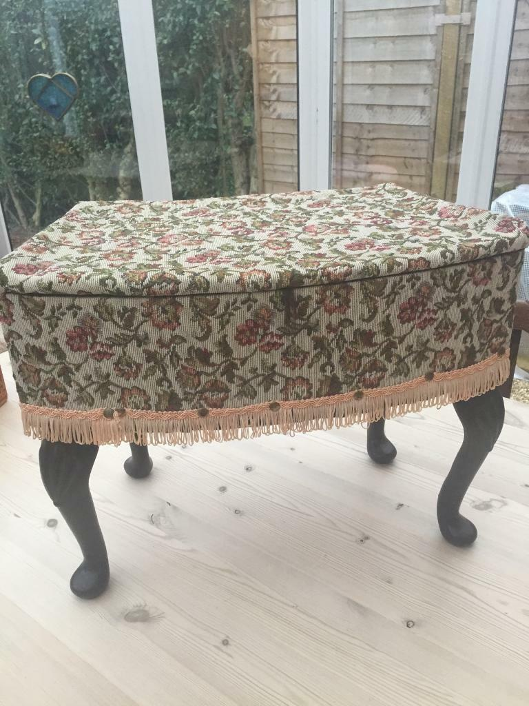 Sensational Vintage Mini Ottoman Sewing Box In Christchurch Dorset Gumtree Uwap Interior Chair Design Uwaporg