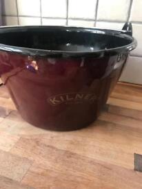 Red Enamel Kilner Jam Pan