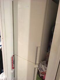 Daewoo fridge freezer, cream 2 years old