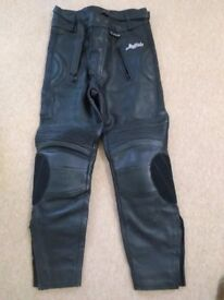 Buffalo leather trousers (size 32) virtually new but too big for me.