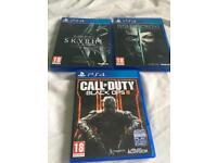 3 PS4 games.