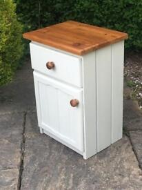 Solid PINE Bedside table DRAWERS cabinet SHABBY CHIC solid wood