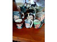 Set of 6 Royal Doulton Toby jugs