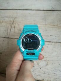 Blue G-shock watch (great condition)