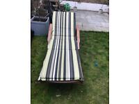 Wooden sun lounger/ garden chair