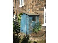 Garden shed 6ft x 4 ft. Felt roof. Strong door.