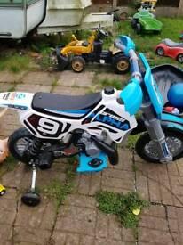 Child's battery motor bike