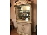 QUICK SALE **** URGENT FOR SALE***** Cream colour Glass Wall Unit