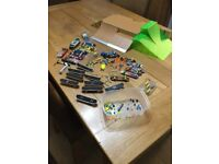 Tech Deck Skatepark with 27 skateboards and 1 scooter. Includes 2 battery boards and tools etc.