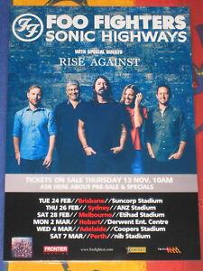 FOO FIGHTERS - 2015 SONIC HIGHWAYS AUSTRALIAN TOUR  -  PROMO TOUR POSTER