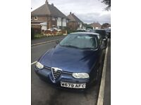 Fabulous Alfa Romeo for sale. Quick sale, £600 ONO. Available next week. MOT until June next year.
