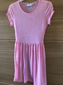 New Look pink tie waist dress