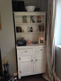 Sold wood cream painted dresser