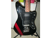 Fender Jazzmaster blacktop Mexican racing stripe Staytrem Bridge + P90, superb conditions Mexico