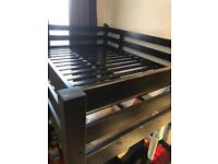 *SOLD*Double Loft bed in Black in Good Condition
