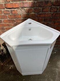 Brand New Corner vanity sink unit with tap