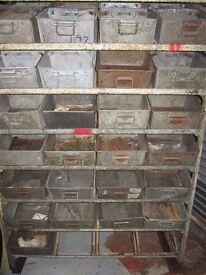 52 engineers bins on racking