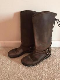 Conkers Leather Boots