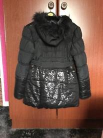 Girls lovely hooded coat.