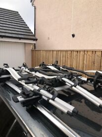 **THULE ROOFRACK AND 4 CYCLE CARRIERS**