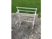 Wooden shabby chic towel rail/stand