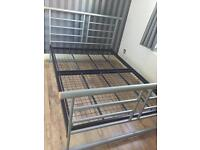 Silver double bed frame- SOLD Pending collection