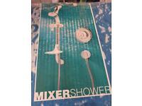 Triton mixer shower flush fitted pressure compensating white n chrome £120