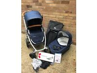 Uppababy Vista Taylor Blue with Extras!