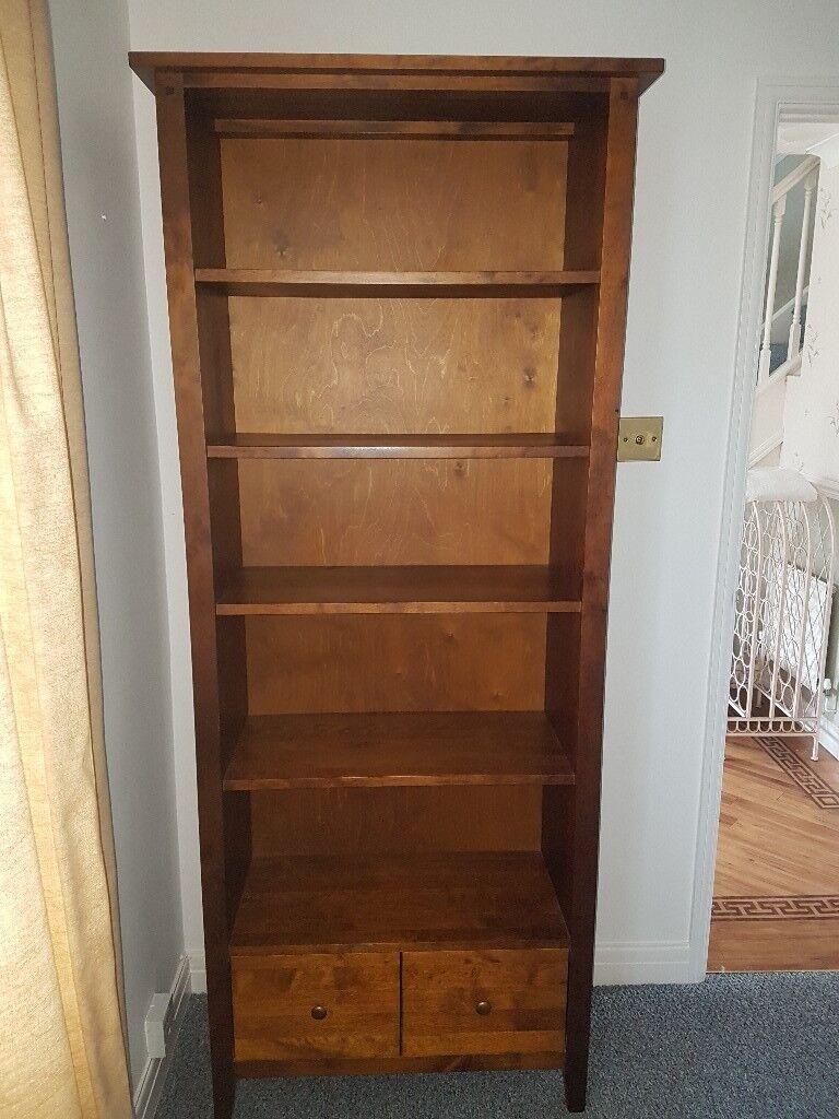 Large solid wood bookshelf