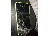 iPhone 5c broken front fell on floor spares or repairs.
