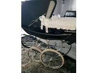 Doll silver cross pram