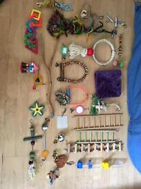 LOADS of Bird Toys, Perches, Bowls and Accessories