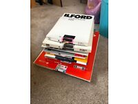 Approx 400+ photographic darkroom papers. Vintage bundle Ilford Kodak Agfa Kentmere Bergger Forte