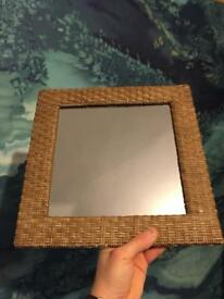 Small Wicker Vanity Mirror
