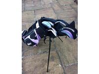 Junior golf bag, clubs & accessories