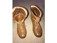 Brown ankle boots size 7