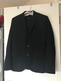 Men's black H&M slim fit suit
