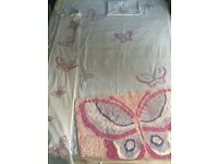Next Butterfly bedding, curtains and rug