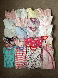 Big bundle of 0-3 month sleepsuits