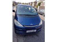 Toyota previa 2.0 diesel with ,new tyres ,Mot ,drive excellent ,clean inside and outside.