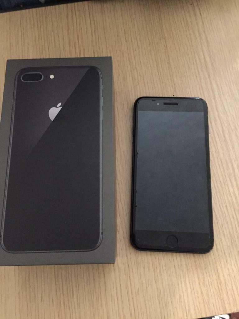 buy popular d7d35 f53cc Iphone 8 Plus Cracked back screen UNLOCKED, | in New Cross, London | Gumtree