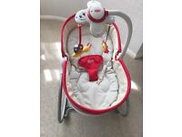 Tiny Love 3‑in‑1 Rocker Napper in Red In PERFECT CONDITION