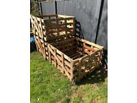 3 Strong wooden crates