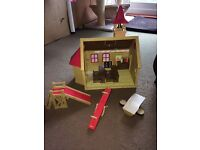 Sylvanian Families bundle 1985/1986 including 2 houses, a school, nursery and Treehouse+furniture