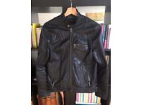 Zadig & Voltaire Black Leather Jacket Size XS for sale  Hackney, London