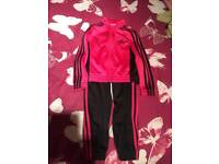 Girls Adidas tracksuit 5-6 years