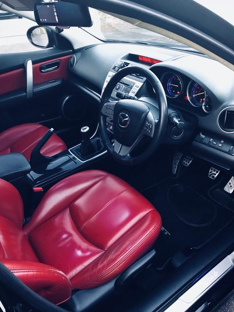 RARE red interior Mazda 6 sport 2009 diesel 185bhp manual mot sept 2018