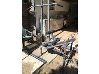 York weights bench and weights 37kg