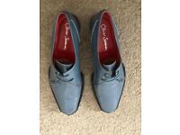 "Oliver Sweeney ""CHECK"" Men's Leather Shoe's (SIZE: 8 1/2)"