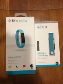Fitbit Alta teal BNWT, never opened, teal size SMALL + spare wristband LARGE (opened)